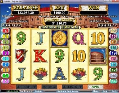 Wild Vegas featuring the video-Slots Caesar's Empire with a maximum payout of $250,000