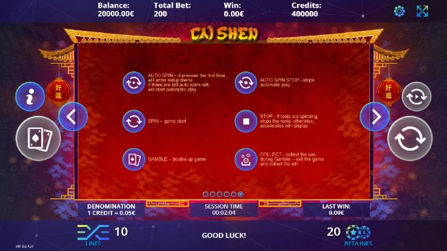 Cai Shen :: How To Play