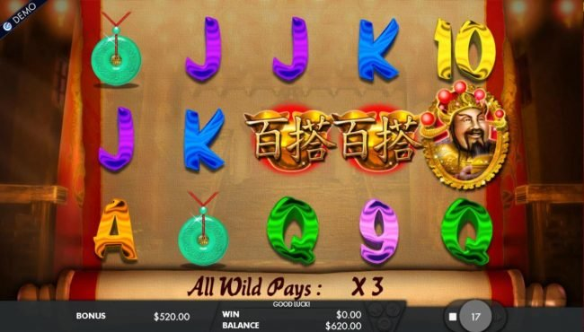 EypoBet featuring the Video Slots Cai Shen's Fortune with a maximum payout of $50,000