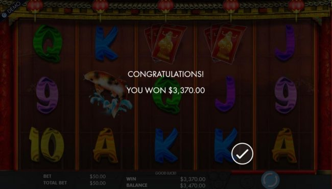 Cai Shen's Fortune :: Free Games pays out a total of 3,370.00