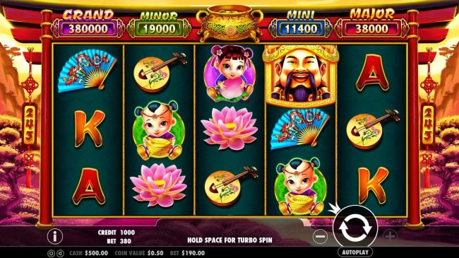 Play slots at Locowin: Locowin featuring the Video Slots Caishen's Gold with a maximum payout of $380,000