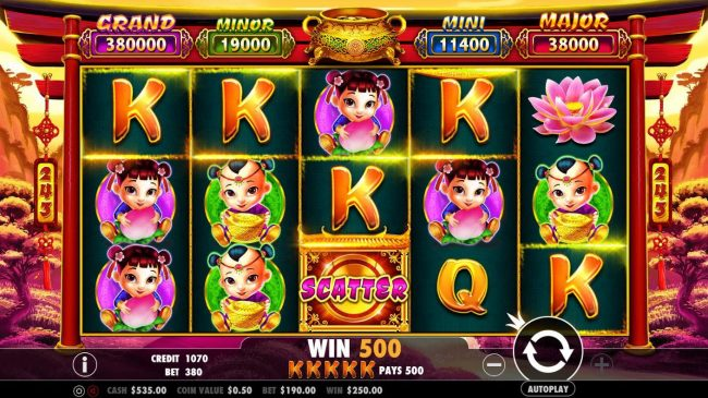 VipSpel featuring the Video Slots Caishen's Gold with a maximum payout of $380,000