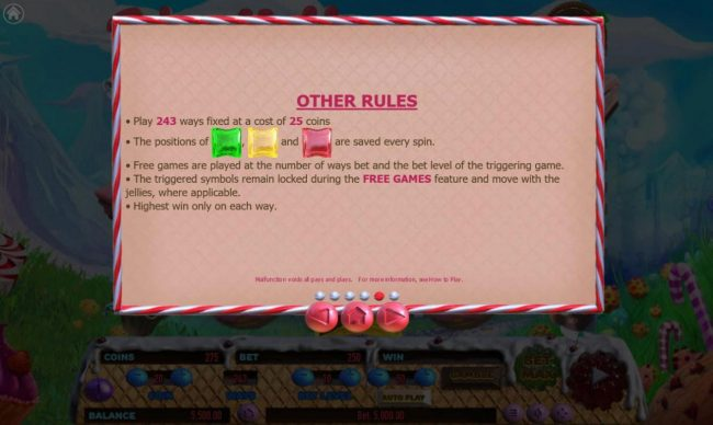Cake Valley :: Other Rules