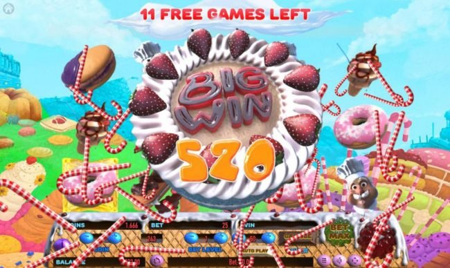 Win Paradise featuring the Video Slots Cake Valley with a maximum payout of $250,000