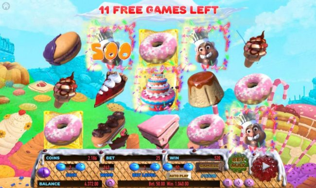 Cake Valley :: Free Spins Game Board