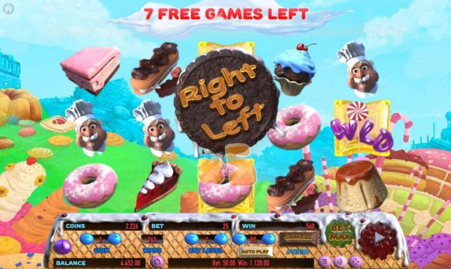 Cake Valley :: The game pays in both directions during the free games feature