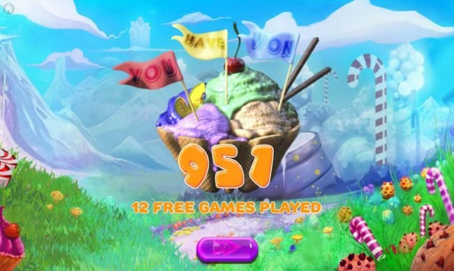 Cake Valley :: Total free games payout 951 coins