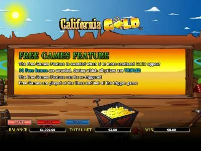 Play Hippo featuring the Video Slots California Gold with a maximum payout of $10,000