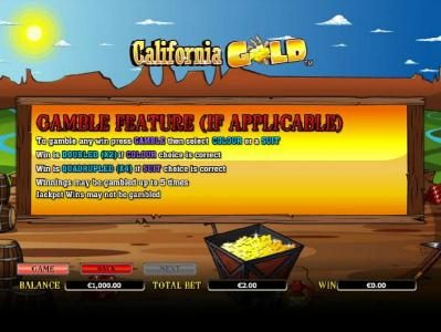 Enzo Casino featuring the Video Slots California Gold with a maximum payout of $10,000