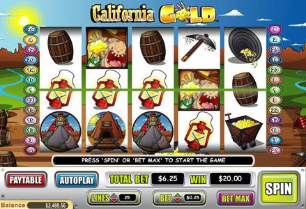 Play slots at Lincoln: Lincoln featuring the Video Slots California Gold with a maximum payout of $100,000