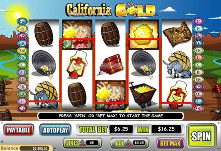 Lincoln featuring the Video Slots California Gold with a maximum payout of $100,000