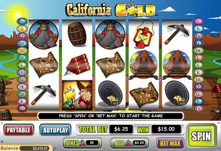 Play slots at Miami Club: Miami Club featuring the Video Slots California Gold with a maximum payout of $100,000
