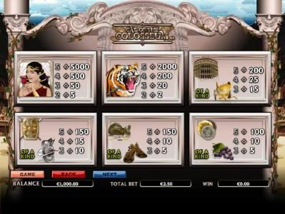 Sky Vegas featuring the Video Slots Call of the Colosseum with a maximum payout of $10,000