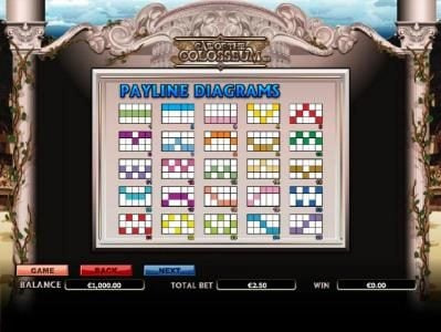 Euro King featuring the Video Slots Call of the Colosseum with a maximum payout of $10,000