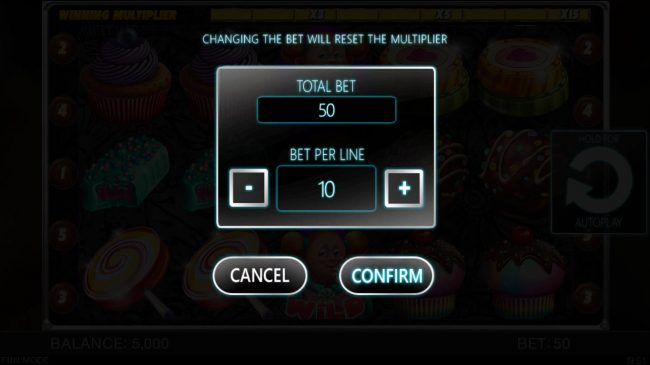 Candy Slot Twins :: Betting Options