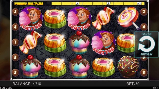 Candy Slot Twins :: Scatter win triggers the free spins feature