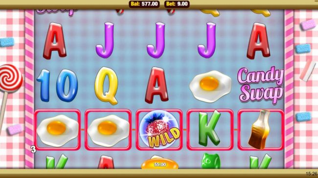 Egypt Slots featuring the Video Slots Candy Swap with a maximum payout of $2,500