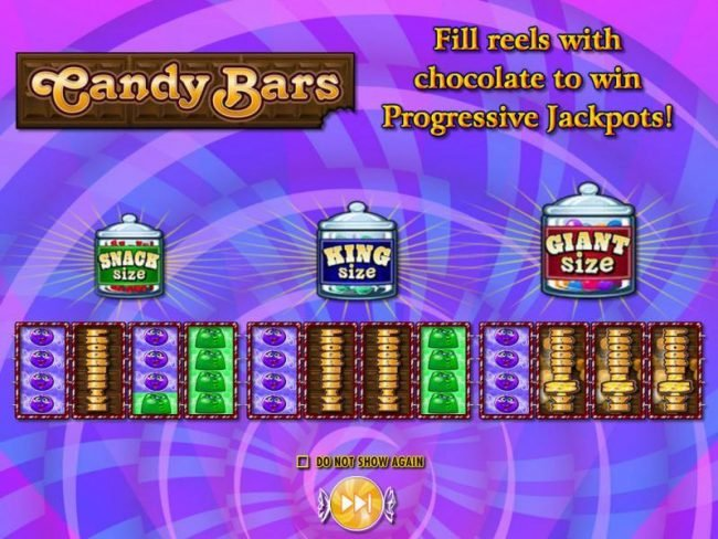 Fill reels with chocolate to win progressive jackpot