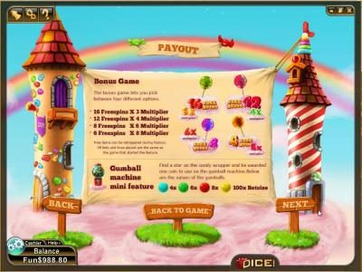 3Dice featuring the Video Slots Candy Clouds with a maximum payout of $4,200