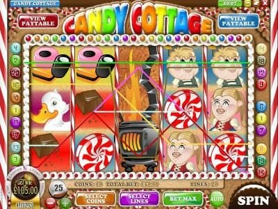 Laromere featuring the Video Slots Candy Cottage with a maximum payout of $6,250