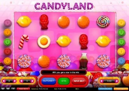 Play slots at Orientxpress: Orientxpress featuring the Video Slots Candyland with a maximum payout of $700