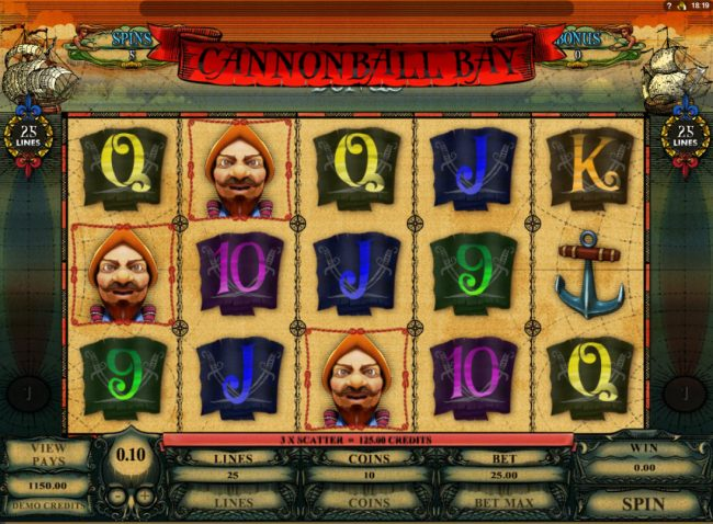 Casino Classic featuring the Video Slots Cannonball Bay with a maximum payout of $12,000