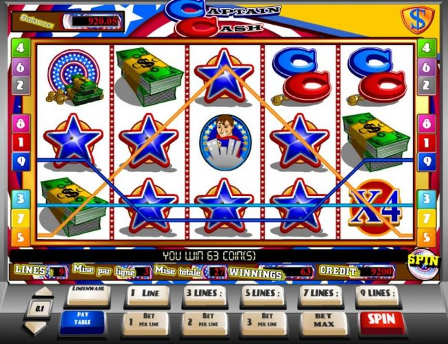 Viggoslots featuring the Video Slots Captain Cash with a maximum payout of $15,000