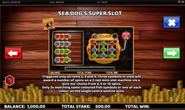 Cheeky Riches featuring the Video Slots Captain Cashfall with a maximum payout of $250,000
