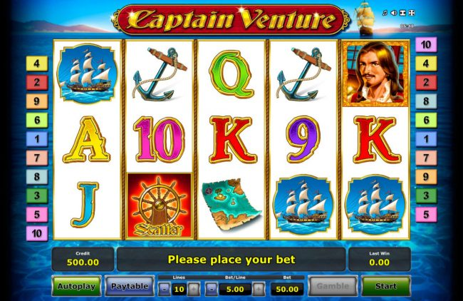 Captain Venture :: Main Game Board