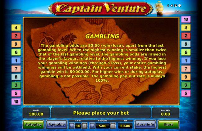 Captain Venture :: Gamble Feature Rules