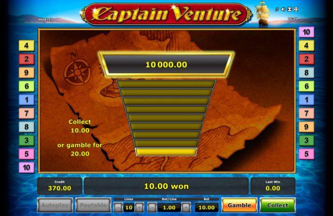 Captain Venture :: Gamble Feature Game Board