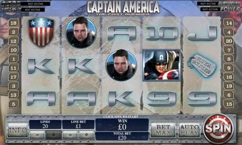 Play slots at Club 777: Club 777 featuring the Video Slots Captain America The First Avenger with a maximum payout of Jackpot