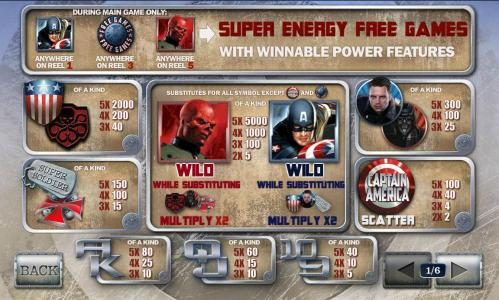 Vernons featuring the Video Slots Captain America The First Avenger with a maximum payout of Jackpot
