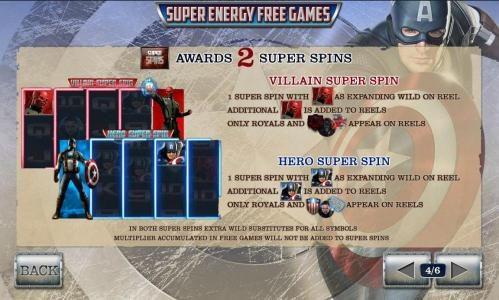 super sins symbol awards 2 super spins - villian super spin and hero super spin