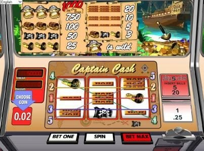 Play slots at Spartan Slots: Spartan Slots featuring the Video Slots Captain Cash with a maximum payout of $1,000