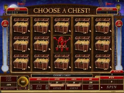 Yukon Gold featuring the Video Slots Captain Squawks Booty Time with a maximum payout of $5,000
