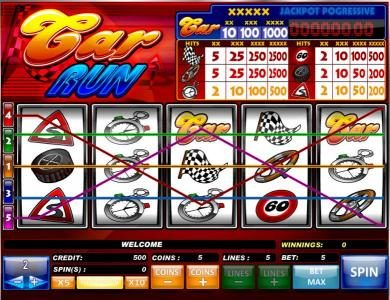 Play slots at Betive: Betive featuring the Video Slots Car Run with a maximum payout of $5,000