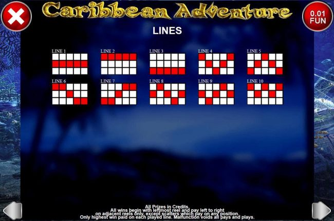 Cbet featuring the Video Slots Caribbean Adventure with a maximum payout of $20,000