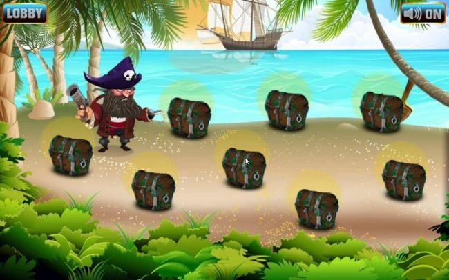 Pick a treasure chest to reveal a multiplier.