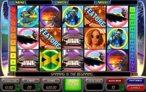 Play slots at Gorilla: Gorilla featuring the Video Slots Caribbean Nights with a maximum payout of $100,000