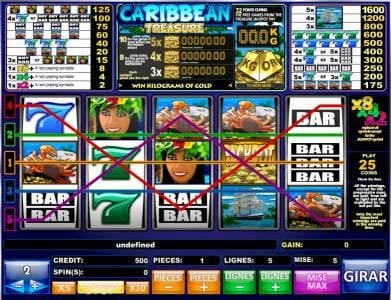 Play slots at Casiplay: Casiplay featuring the Video Slots Caribbean Treasure with a maximum payout of Jackpot