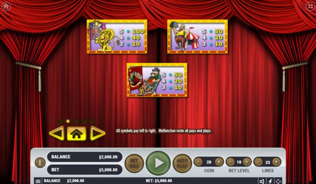 CryptoWild featuring the Video Slots Carnival Cash with a maximum payout of $62,500