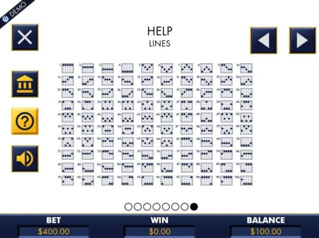 Payline Diagrams 1-100