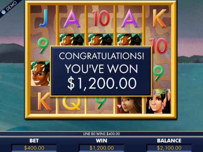Free Games feature pays out a total of 1,200.00