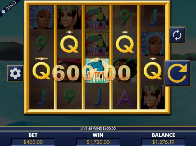 Casino Cruise featuring the Video Slots Carnaval Cash with a maximum payout of $4,000