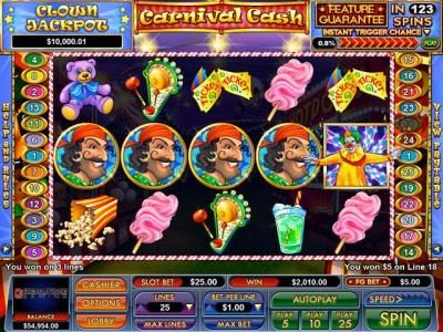 BuzzLuck featuring the Video Slots Carnival Cash with a maximum payout of $5,000