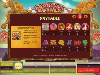 Casino Cruise featuring the Video Slots Carnival Royale with a maximum payout of $4,000