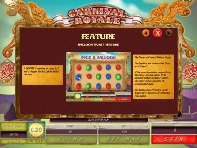 Noxwin featuring the Video Slots Carnival Royale with a maximum payout of $4,000