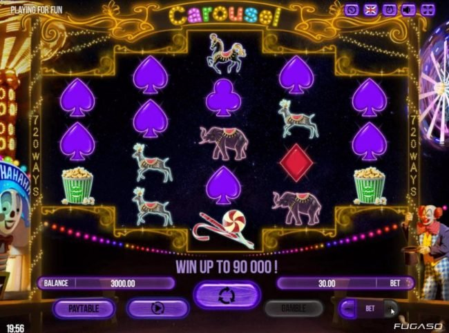 Play slots at Boo Casino: Boo Casino featuring the Video Slots Carousel with a maximum payout of $90,000