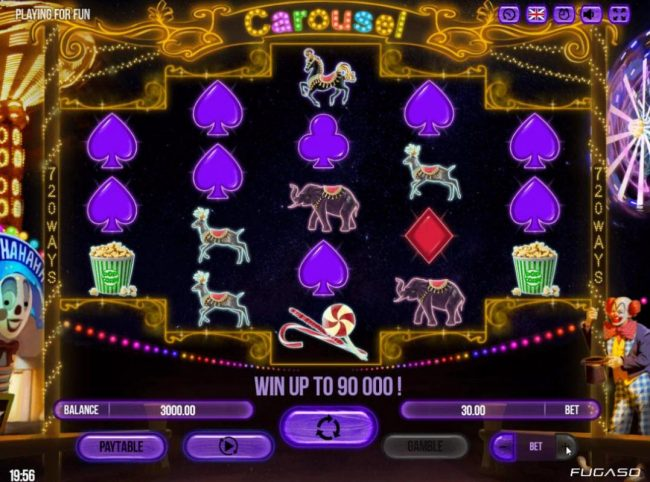 Play slots at All Wins Casino: All Wins Casino featuring the Video Slots Carousel with a maximum payout of $90,000